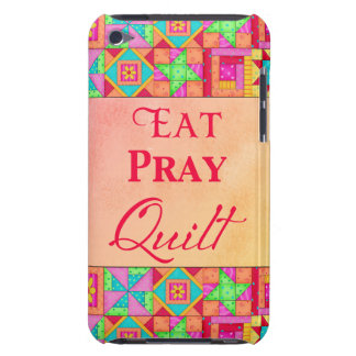 Eat Pray Quilt Colorful Patchwork Block Art Barely There iPod Cover