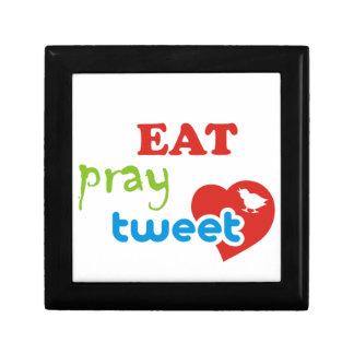 Eat pray tweet jewelry box