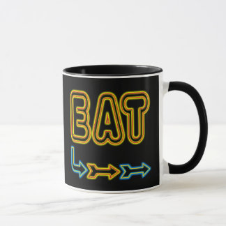 Eat Retro Neon Sign Art Coffee Mug