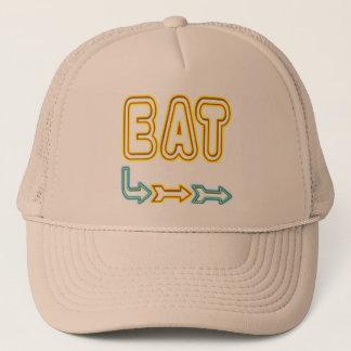 Eat Retro Neon Sign Art Trucker Hat