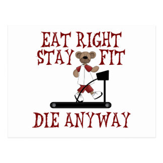 Eat Right - Stay Fit Post Card