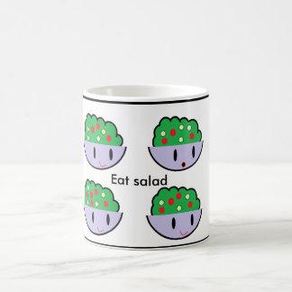 Eat salad coffee mug