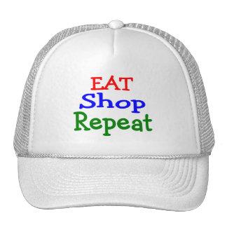 Eat Shop Repeat Hats