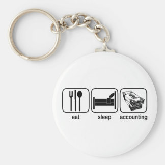 Eat Sleep Accounting Key Ring