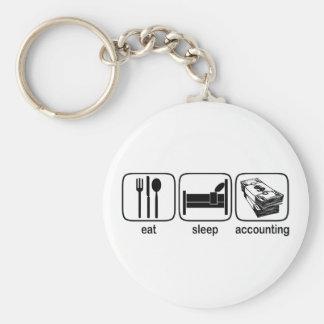 Eat Sleep Accounting Keychain