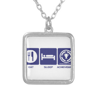 Eat Sleep Achievement Personalized Necklace