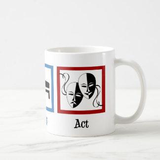 Eat Sleep Act Basic White Mug