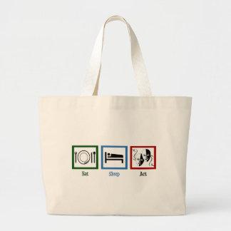 Eat Sleep Act Jumbo Tote Bag