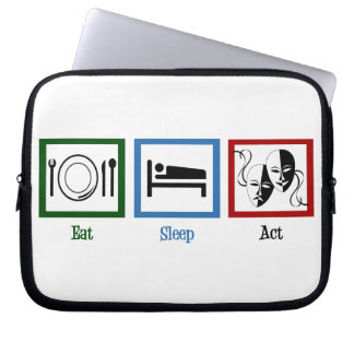 Eat Sleep Act Laptop Sleeve