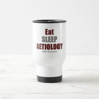 Eat sleep Aetiology Stainless Steel Travel Mug