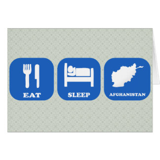 Eat Sleep Afghanistan Card