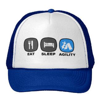Eat. Sleep. Agility. Blue. Cap
