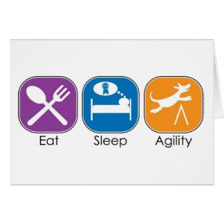 Eat Sleep Agility Greeting Card