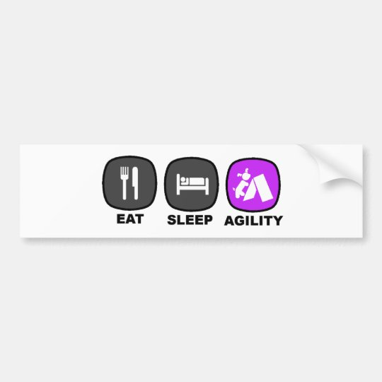 Eat. Sleep. Agility. Purple. Bumper Sticker