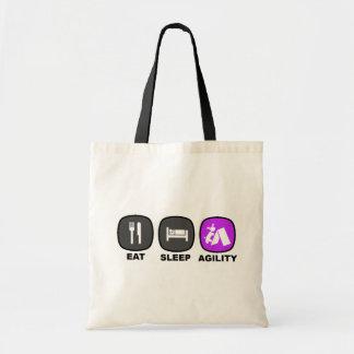 Eat. Sleep. Agility. Purple. Tote Bag