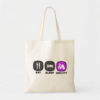 Eat. Sleep. Agility. Purple. Tote Bag