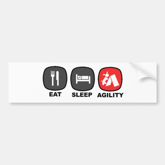 Eat. Sleep. Agility. Red. Bumper Sticker