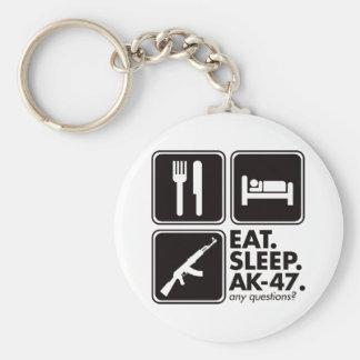 Eat Sleep AK-47 - Black Keychains