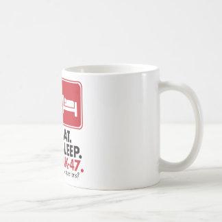 Eat Sleep AK-47 - Red Basic White Mug