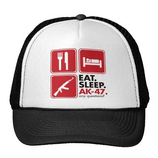 Eat Sleep AK-47 - Red Mesh Hat