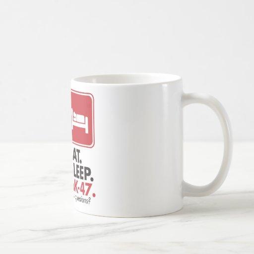 Eat Sleep AK-47 - Red Coffee Mugs