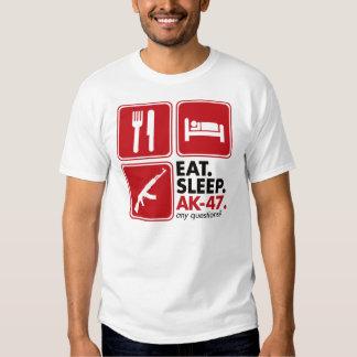 Eat Sleep AK-47 - Red T-shirt