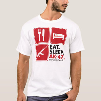 Eat Sleep AK-47 - Red T-Shirt