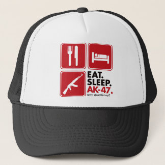 Eat Sleep AK-47 - Red Trucker Hat