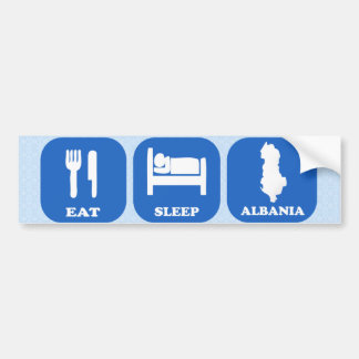 Eat Sleep Albania Bumper Sticker