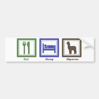 Eat Sleep Alpacas Bumper Sticker