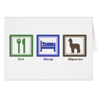 Eat Sleep Alpacas Card