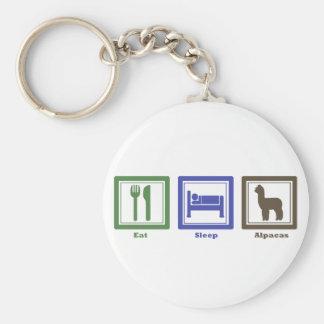 Eat Sleep Alpacas Key Ring