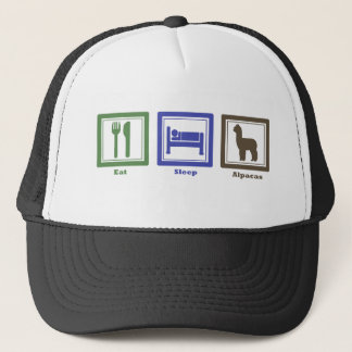 Eat Sleep Alpacas Trucker Hat