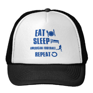 Eat sleep American football Hats