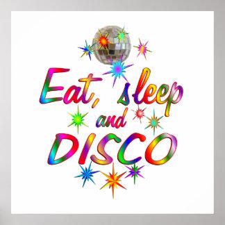 Eat, Sleep and Disco Poster