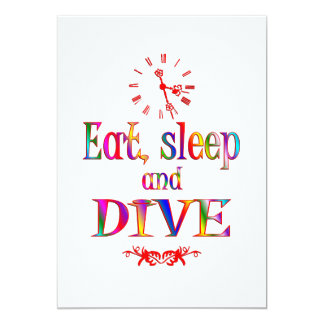 Eat, Sleep and Dive 13 Cm X 18 Cm Invitation Card