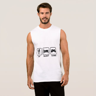Eat,Sleep and Game Ultra Cotton Sleeveless T-Shirt
