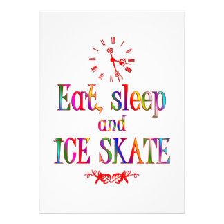 Eat Sleep and Ice Skate Custom Announcements