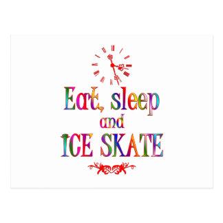 Eat Sleep and Ice Skate Post Cards