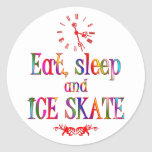 Eat, Sleep and Ice Skate Round Sticker
