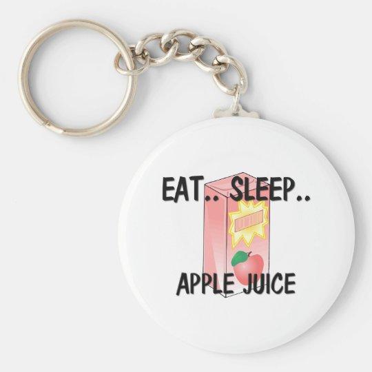 Eat Sleep APPLE JUICE Basic Round Button Key Ring