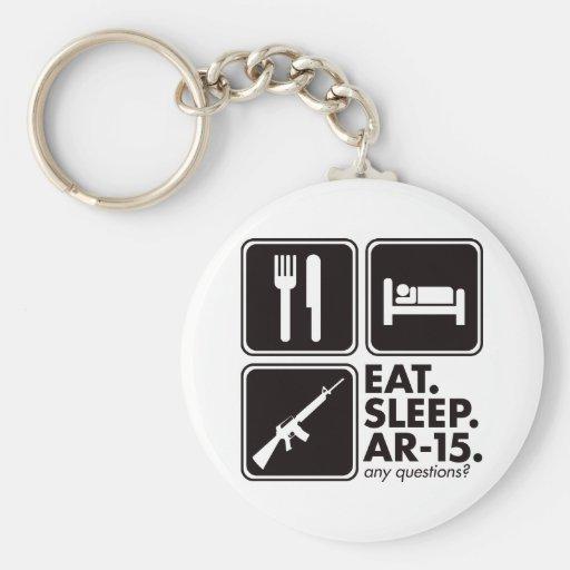 Eat Sleep AR-15 - Black Keychains