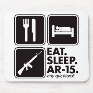 Eat Sleep AR-15 - Black Mouse Pad
