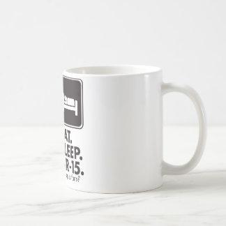 Eat Sleep AR-15 - Black Mugs