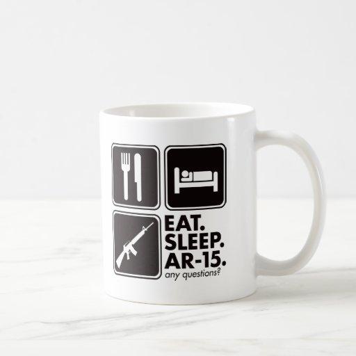 Eat Sleep AR-15 - Black Coffee Mug