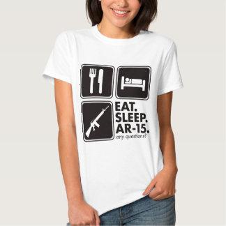 Eat Sleep AR-15 - Black Tee Shirt
