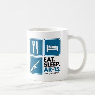 Eat Sleep AR-15 - Blue Basic White Mug