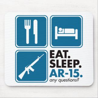 Eat Sleep AR-15 - Blue Mouse Pad