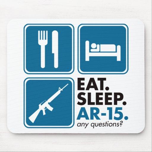 Eat Sleep AR-15 - Blue Mouse Pads