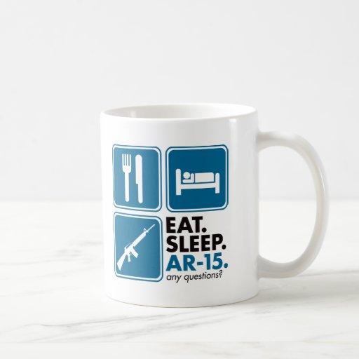 Eat Sleep AR-15 - Blue Coffee Mugs